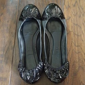 Burberry check flats size 6.5 like new